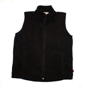 Woolrich Fleece Black Full Zip Vest Size Medium